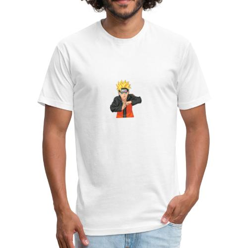 naruto - Fitted Cotton/Poly T-Shirt by Next Level