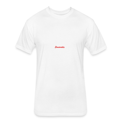 Logo Red - Fitted Cotton/Poly T-Shirt by Next Level