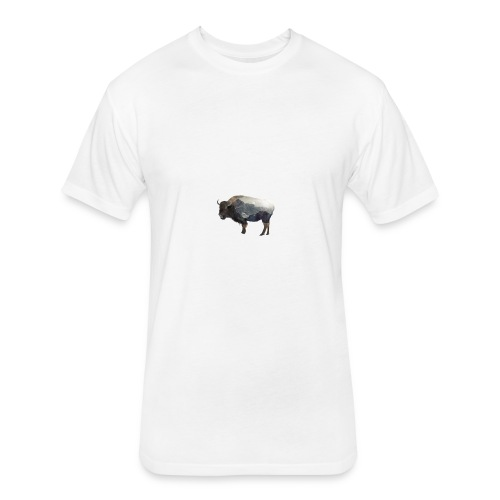 Buffalo Design - Fitted Cotton/Poly T-Shirt by Next Level