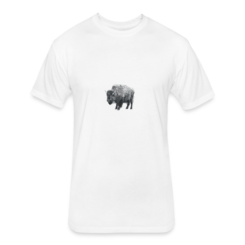 bison image - Fitted Cotton/Poly T-Shirt by Next Level