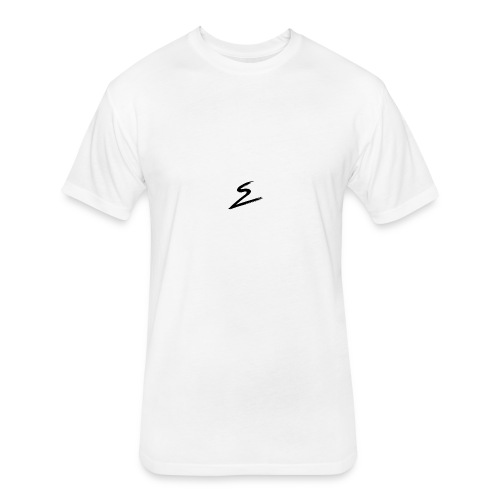 Swirv Signature Logo White - Fitted Cotton/Poly T-Shirt by Next Level