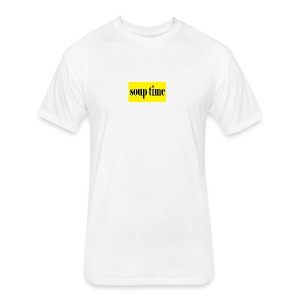 Soup Time Box Logo - Fitted Cotton/Poly T-Shirt by Next Level