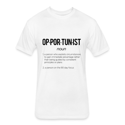Opportunist - Fitted Cotton/Poly T-Shirt by Next Level