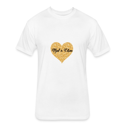 God is Love - Fitted Cotton/Poly T-Shirt by Next Level