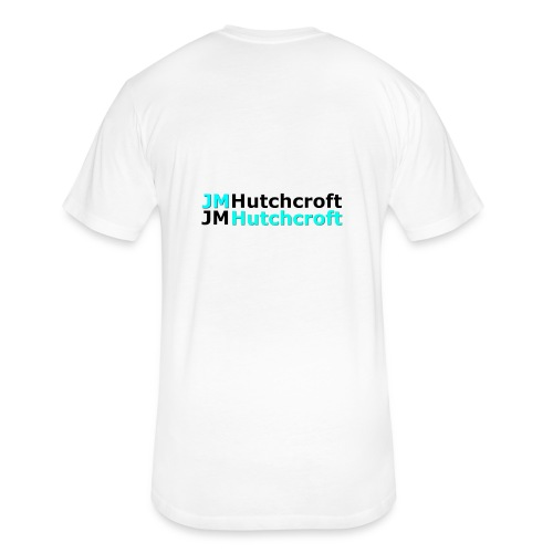 Back Printed JM Hutchcroft - Fitted Cotton/Poly T-Shirt by Next Level