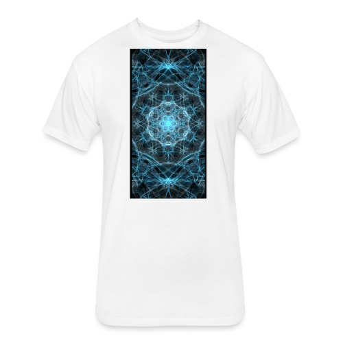 Icy Lights - Fitted Cotton/Poly T-Shirt by Next Level