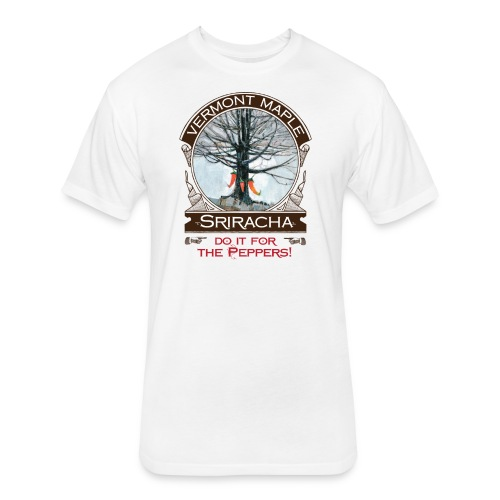 Vermont Maple Sriracha - Fitted Cotton/Poly T-Shirt by Next Level