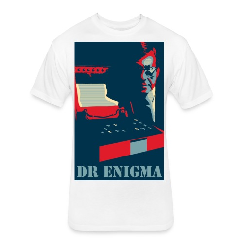 Dr Enigma+Enigma Machine - Fitted Cotton/Poly T-Shirt by Next Level