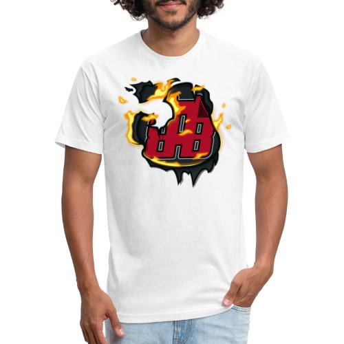 BAB Logo on FIRE! - Fitted Cotton/Poly T-Shirt by Next Level