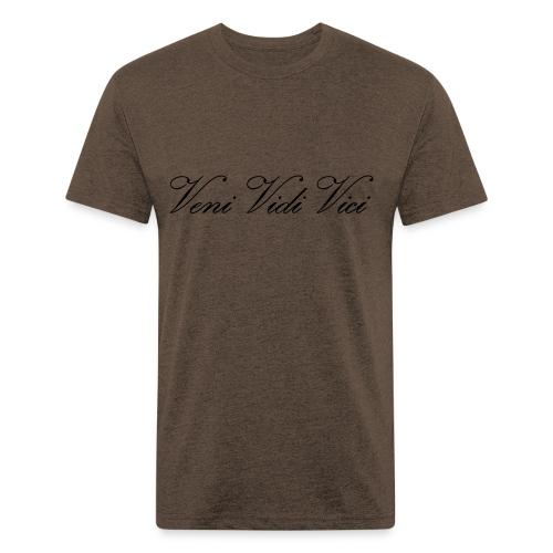 Zyzz Veni Vidi Vici Calli text - Fitted Cotton/Poly T-Shirt by Next Level
