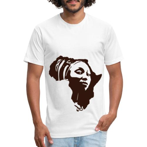 Original Kulture Mama Africa Print - Fitted Cotton/Poly T-Shirt by Next Level