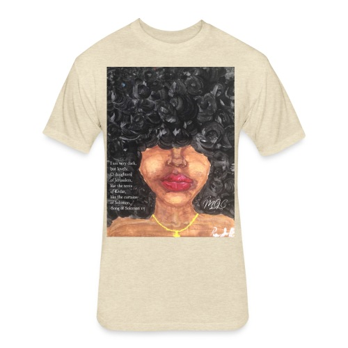 Song of Solomon 1:5 - Fitted Cotton/Poly T-Shirt by Next Level