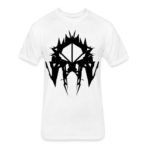 LOGO 1_invert - Fitted Cotton/Poly T-Shirt by Next Level