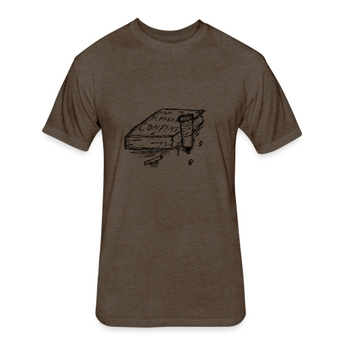Content - Fitted Cotton/Poly T-Shirt by Next Level