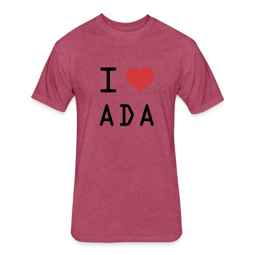 I HEART ADA (Cardano) - Fitted Cotton/Poly T-Shirt by Next Level