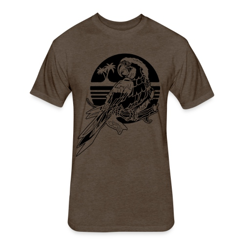 Tropical Parrot - Fitted Cotton/Poly T-Shirt by Next Level