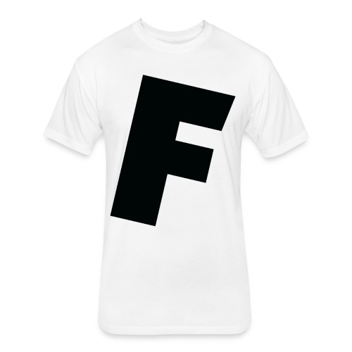 F slanted - Fitted Cotton/Poly T-Shirt by Next Level