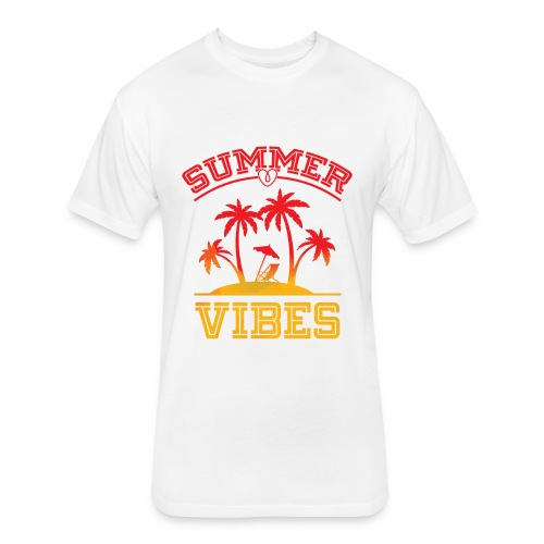 Summer Vibes - Fitted Cotton/Poly T-Shirt by Next Level