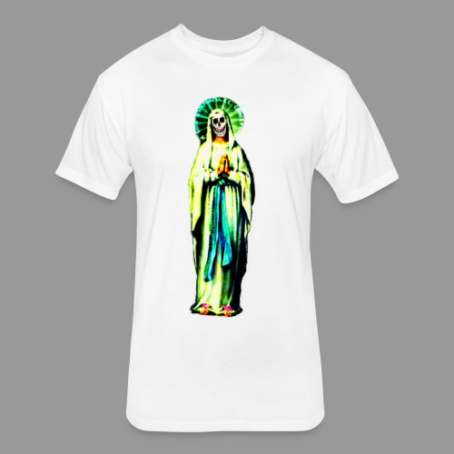 Cult Of Santa Muerte - Fitted Cotton/Poly T-Shirt by Next Level