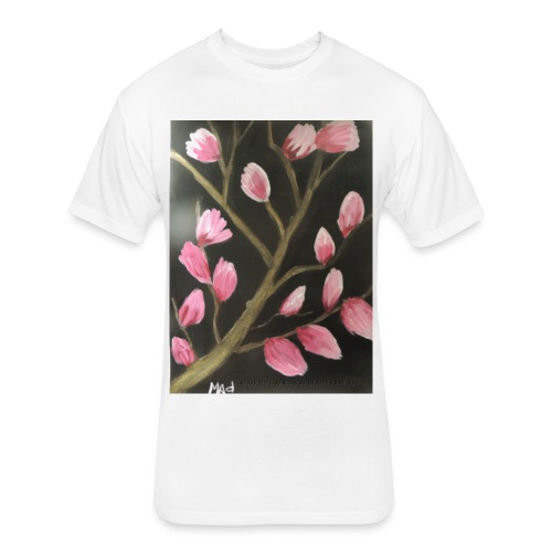 Magnolia Buds Early Spring - Fitted Cotton/Poly T-Shirt by Next Level
