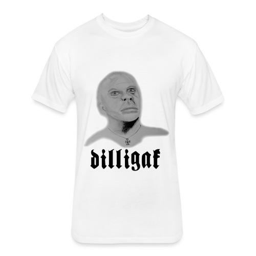 DILLIGAF - Fitted Cotton/Poly T-Shirt by Next Level