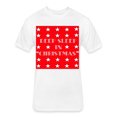 Christmas theme - Fitted Cotton/Poly T-Shirt by Next Level
