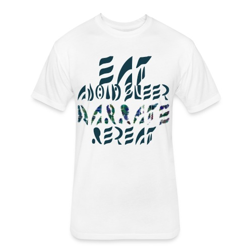 Eat Sleep Narrate Repeat - Fitted Cotton/Poly T-Shirt by Next Level