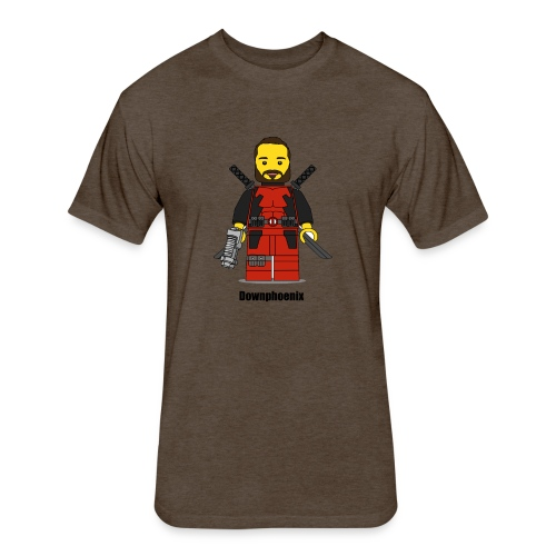 Downphoenix Character Logo - Fitted Cotton/Poly T-Shirt by Next Level