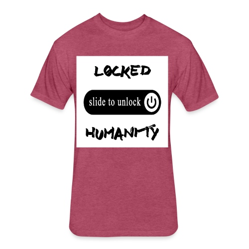Locked Humanity - Fitted Cotton/Poly T-Shirt by Next Level