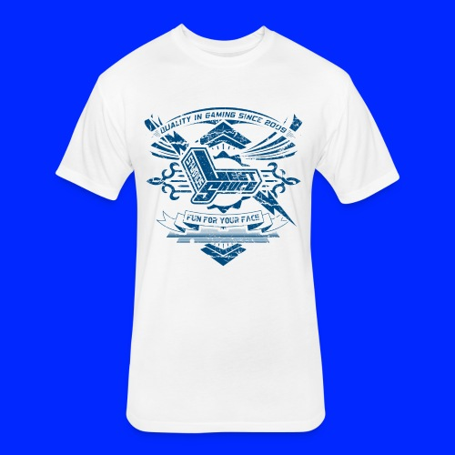 Vintage Leet Sauce Studios Crest Blue - Fitted Cotton/Poly T-Shirt by Next Level