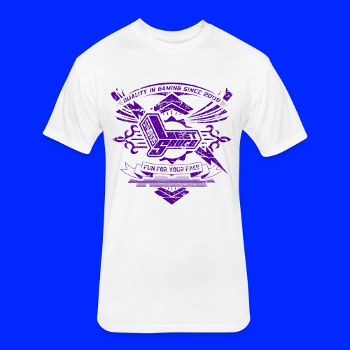 Vintage Leet Sauce Studios Crest Purple - Fitted Cotton/Poly T-Shirt by Next Level