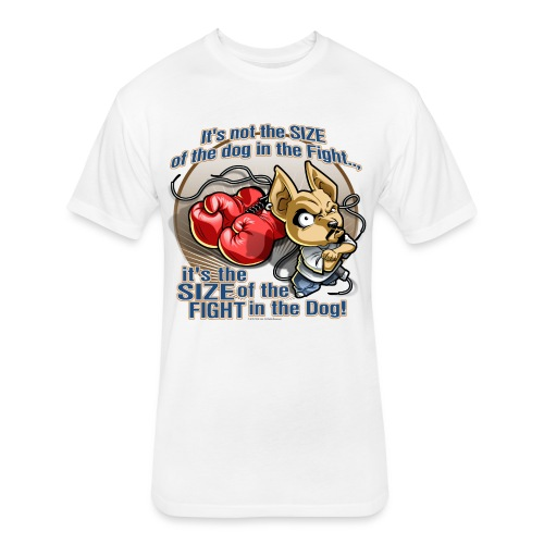 Dog in fight by RollinLow - Fitted Cotton/Poly T-Shirt by Next Level