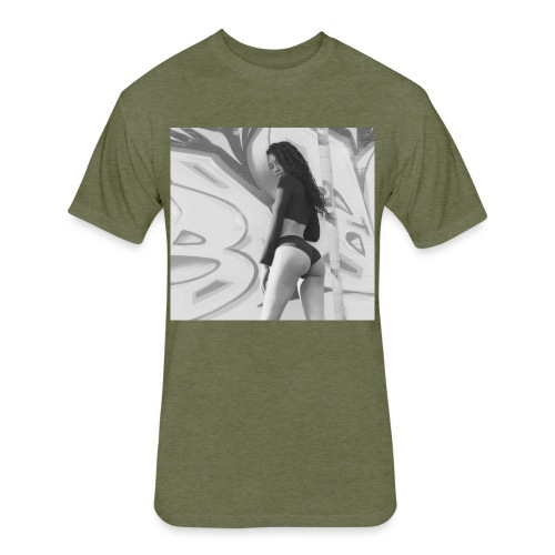 'Danaja' - Fitted Cotton/Poly T-Shirt by Next Level