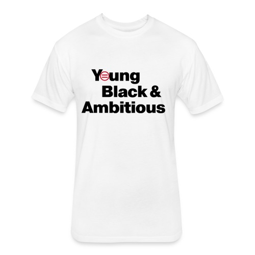 YBA white and gray shirt - Fitted Cotton/Poly T-Shirt by Next Level