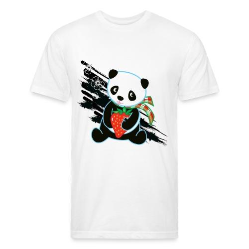 Cute Kawaii Panda T-shirt by Banzai Chicks - Fitted Cotton/Poly T-Shirt by Next Level