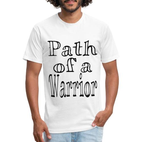 Path of a Warrior (White) - Fitted Cotton/Poly T-Shirt by Next Level