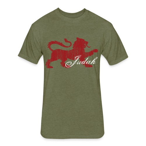 The Lion of Judah - Fitted Cotton/Poly T-Shirt by Next Level