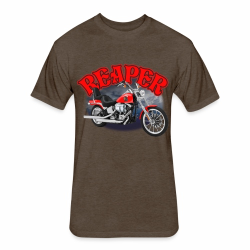 Motorcycle Reaper - Fitted Cotton/Poly T-Shirt by Next Level