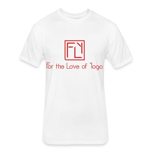 For the Love of Yoga - Fitted Cotton/Poly T-Shirt by Next Level