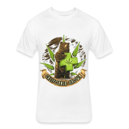 Bear - Fitted Cotton/Poly T-Shirt by Next Level