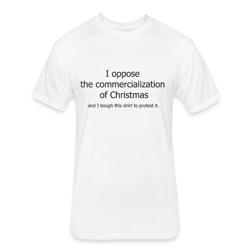 Christmas Commercialization Ladies T - Fitted Cotton/Poly T-Shirt by Next Level