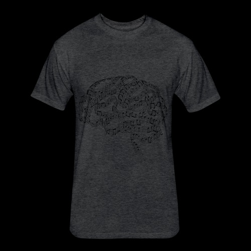 Sound of Mind | Audiophile's Brain - Fitted Cotton/Poly T-Shirt by Next Level