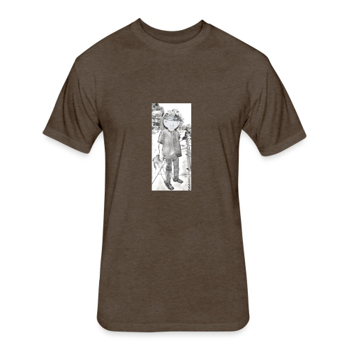 Grit Beer - Fitted Cotton/Poly T-Shirt by Next Level
