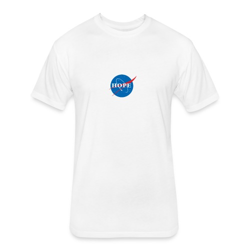 Hope (Nasa design) - Fitted Cotton/Poly T-Shirt by Next Level