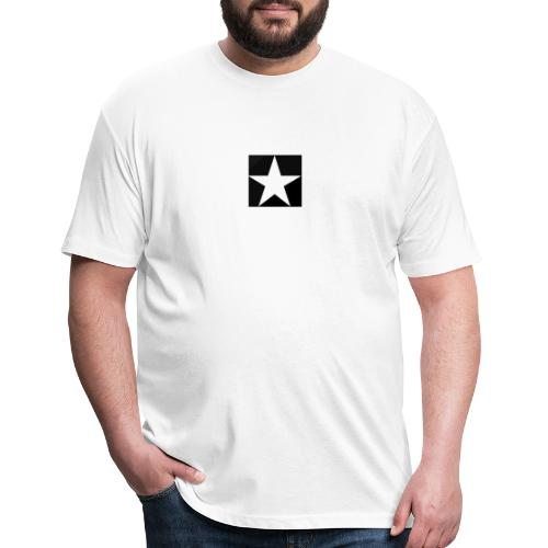 MOB-MOM ' WHITE STAR - Fitted Cotton/Poly T-Shirt by Next Level