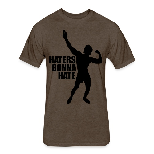 Zyzz Silhouette Haters Gonna Hate - Fitted Cotton/Poly T-Shirt by Next Level