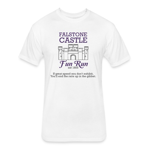 Falstone Castle Fun Run - Fitted Cotton/Poly T-Shirt by Next Level