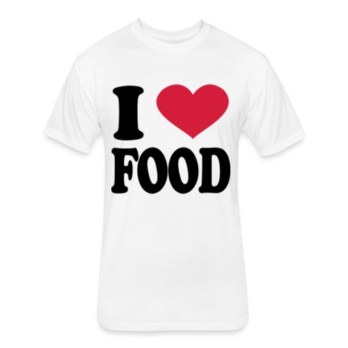 i love food - Fitted Cotton/Poly T-Shirt by Next Level