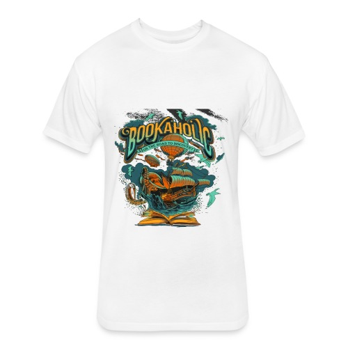 Bookaholic - Fitted Cotton/Poly T-Shirt by Next Level