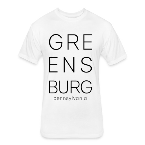Greensburg White Tee - Fitted Cotton/Poly T-Shirt by Next Level